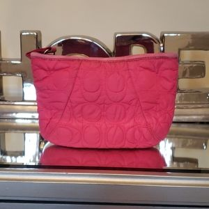 Small Authentic coach pink pouch